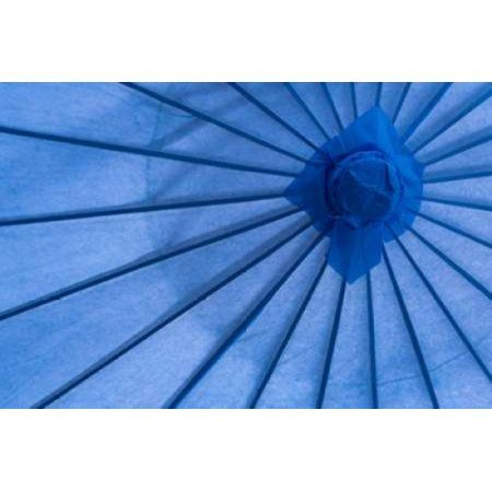 Blue Umbrella Canvas Art - Kathy Mahan (12 x 18)