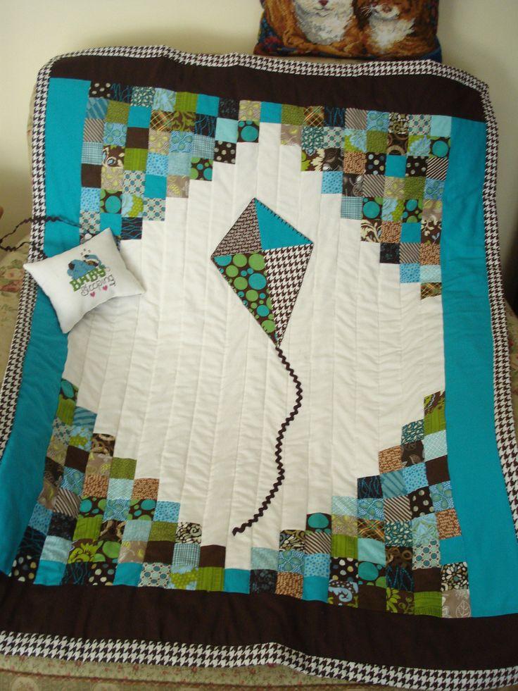 13 best Kite Quilts images on Pinterest | Quilt patterns, Baby boy ... : pinterest baby boy quilts - Adamdwight.com