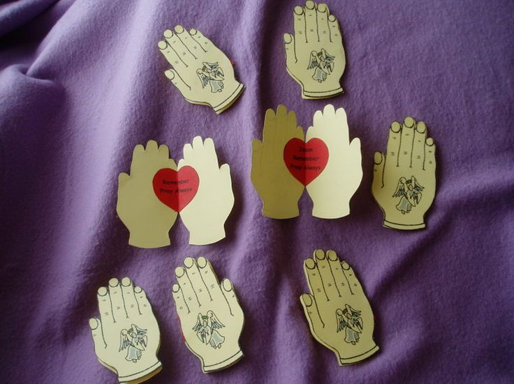Praying hands craft. We let the kids write special things they pray for inside their praying hands craft.