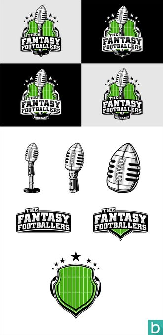 Fantasy Football Podcast Logo --- Clean, Modern, Sharp, Eye-Catching by AtoGraphz