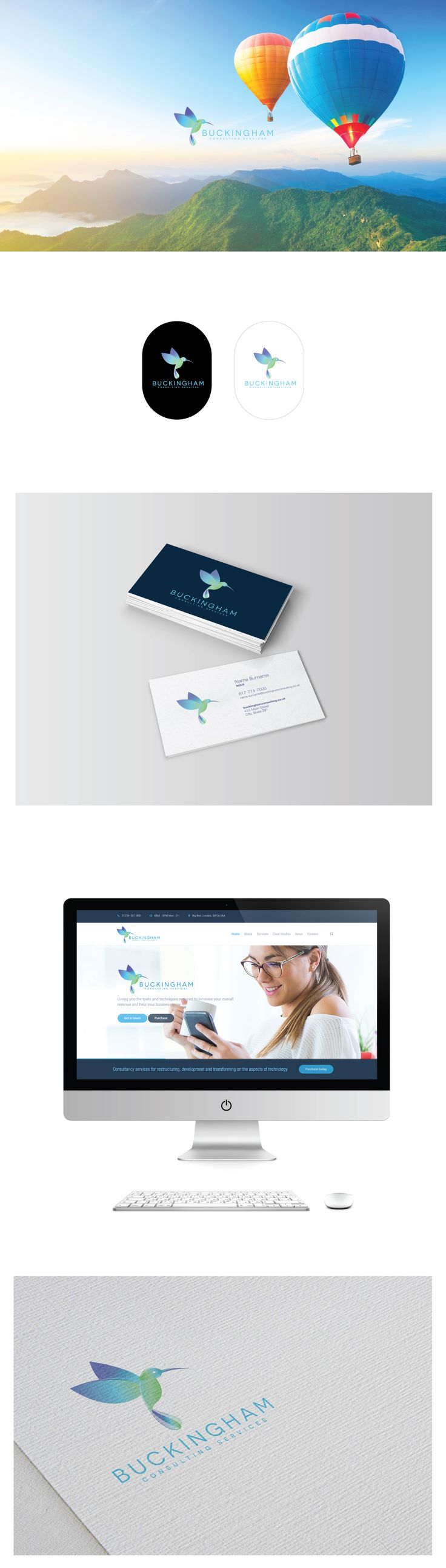 Logo design and corporate branding for a british company that offers consultancy services for restructuring, development and transforming on the aspects of technology, processes and employees.