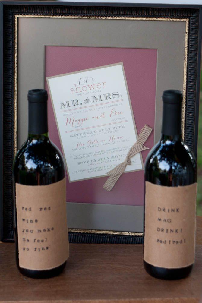 wine wedding shower gift poem%0A Bridal Shower Details