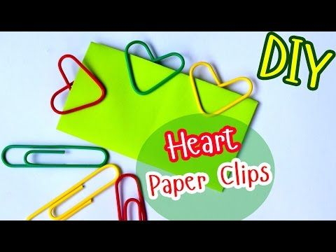 How to Make Heart Paper Clips / DIY Valentine's Day - YouTube
