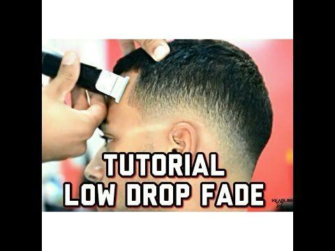 Slicked Back Pompadour with Bald Fade; pomp; scissor haircut; razor fade - YouTube