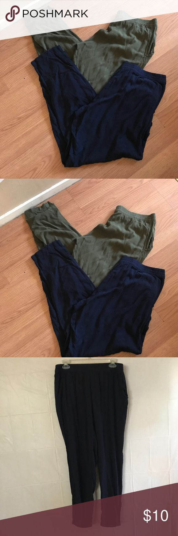 2 Divided by H&M Soft Pants 2 Divided by H&M Soft Pants.  Has pockets! Waist band is elastic. No holes or tears.  Only some pilling on inner thigh pictured above.   So much wear left in them!  Approximate Measurements Length 41 in. Waist 17 in. Divided Pants Ankle & Cropped