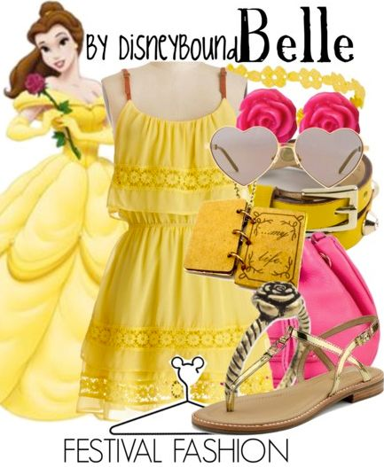Disney Outfit Belle beauty and the beast yellow dress summer style