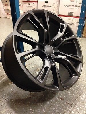 "4 NEW JEEP SRT8 20"" Wheels Matte Black OE 20x9 5x127 Grand Cherokee"