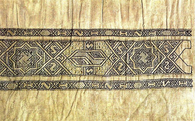 Embroidery from the Bahri Mamluk dynasty (1250-1390) in Egypt