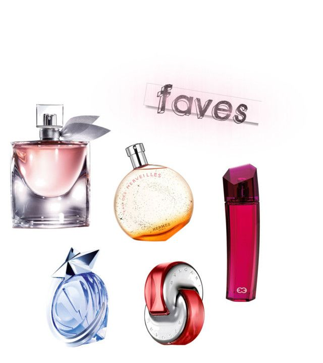 """Faves ☺️"" by karinameliala on Polyvore featuring beauty, Hermès, Lancôme, Bulgari, White Label, ESCADA and Thierry Mugler"