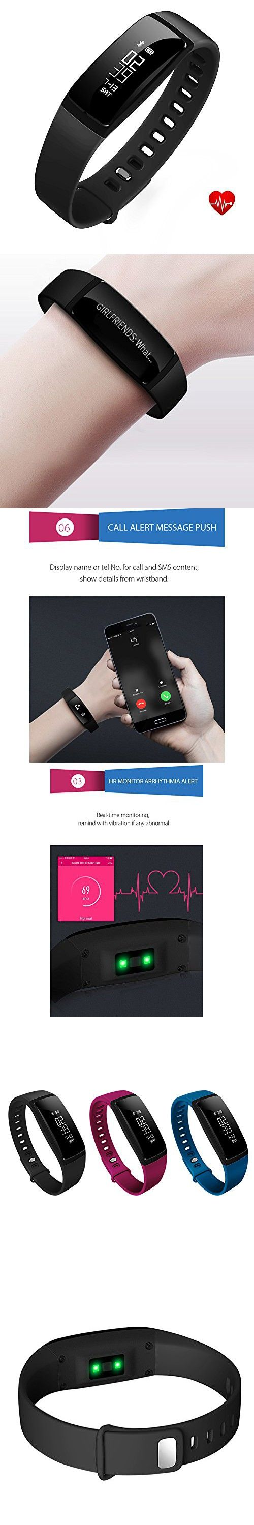 Fitness Tracker, Health Sleep Activity Tracker, Upgraded Watch Wristband with Blood Press Monitor, Heart Rate Monitor Smart Bracelet for Outdoor Sports, for iPhone/Android Smart Phone