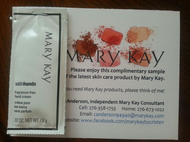 Mary Kay samples and contact information. . I use these when I meet people out and they comment about MK.. plus who doesn't love free samples?