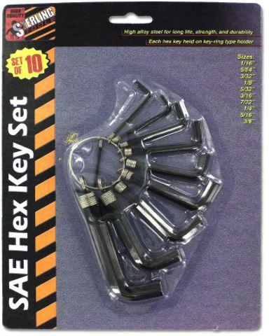 Sea Hex Key Set Case Pack 24