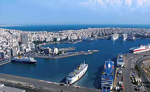 Piraeus:  Major Port in Greece.  When travelling to islands from Athens, this is where you will board. Very busy, surprisingly efficient.