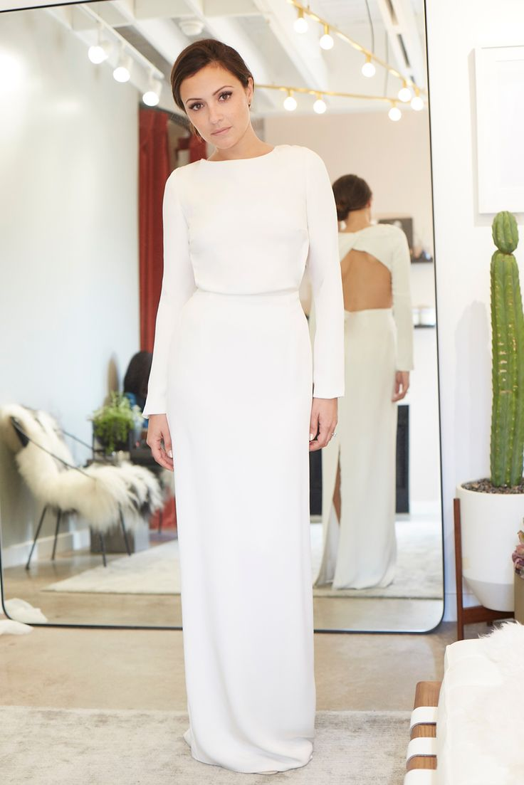 """We Helped Actress Italia Ricci Find Her Perfect Wedding Dress - Houghton """"Cheyne"""" gown at Loho Bride, $2,475. from InStyle.com"""