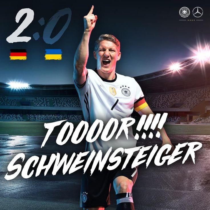 Tor! Bastian Schweinsteiger GER Vs. UKR Euro 2016