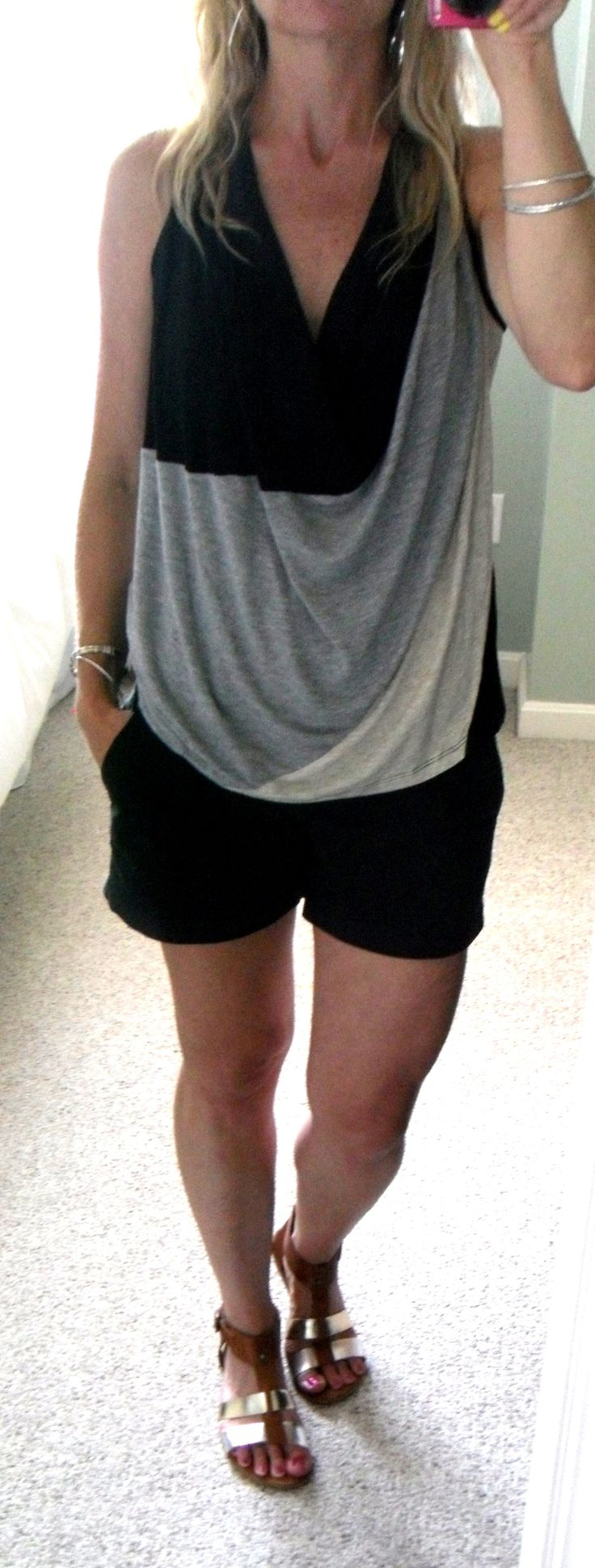 Black sandals old navy - Draped Jersey Halter Top From Marshalls Black Old Navy Shorts Metallic Leather