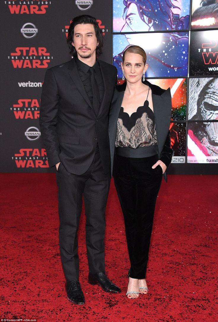 Bad guy: Kylo Ren himself Adam Driver brought wife Joanne Tucker as his plus one...