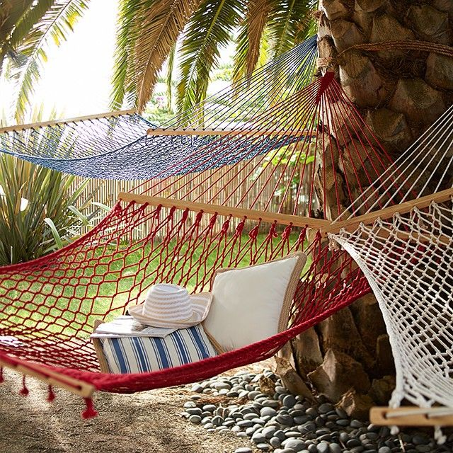 If you're having a busy Saturday, just take a deep breath, stare at these #Pier1 #hammocks and picture yourself swaying in the breeze.  Now go get the real thing via our Like2b.uy/Pier1 link in our Instagram profile.
