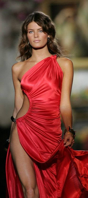 Hotness in a red dress...                                                            isabeli fontana