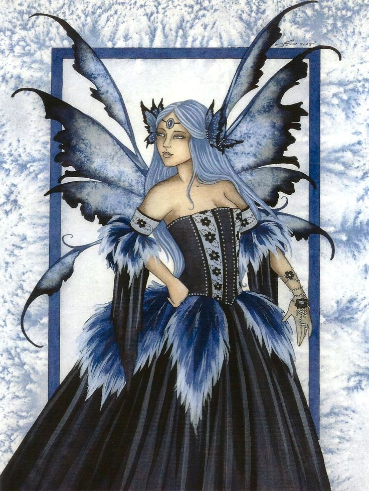 Fairy Art Amy Brown Faery Queen winter