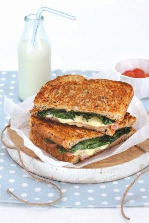 Honey Baked Ham, Havarti Cheese & Spinach Melt #HoneyBakedHam #HavartiCheese #SpinachMelt