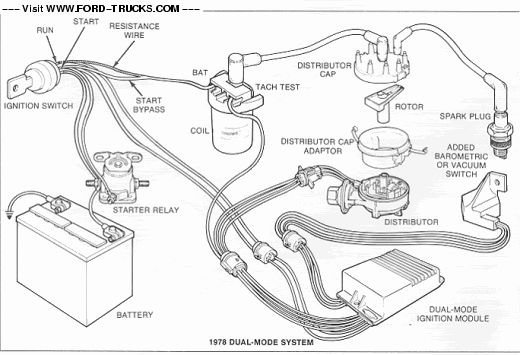 wiring diagram for 78 ford my truck ford