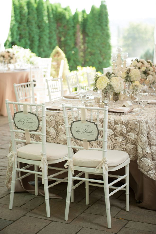 Real Wedding: Romantic Elegance By Rennard Photography. Chair Decor WeddingTable  Setting ...