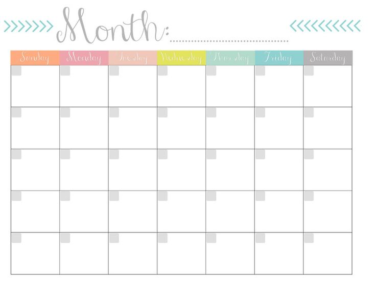 Perfect for posting this month's activities or planning a future vacation, the blank printable calendar template features several lines for each day to list important events, errands, holidays, and more. Blank Calander Template Awesome Printable Blank Monthly ...