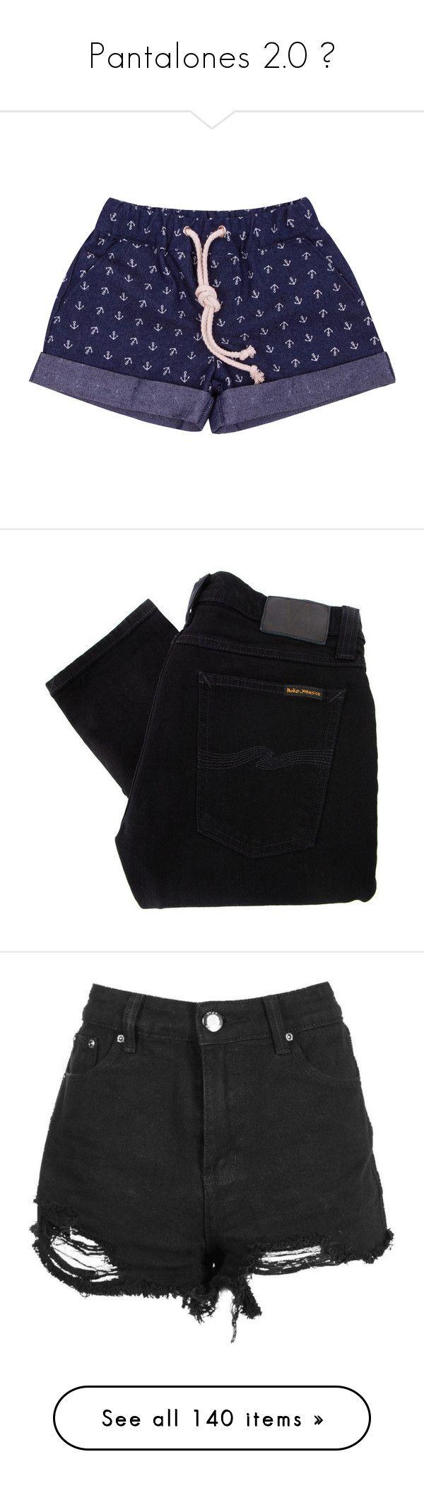 """Pantalones 2.0 💚"" by winimae ❤ liked on Polyvore featuring shorts, navy blue, short shorts, denim shorts, navy blue shorts, navy shorts, anchor shorts, jeans, pants and bottoms"