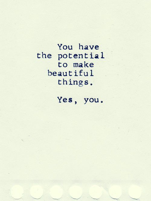 Yes YOU! :)