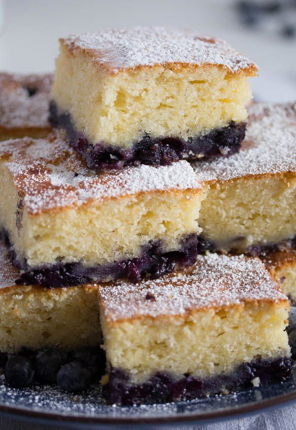 Lemon Blueberry Cake With Sour Cream Recipe In 2020 Blueberry Sour Cream Cake Sour Cream Cake Easy Blueberry