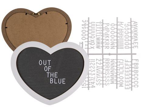 Trendartikel - Herz-Holzrahmen mit Textilsteckfeld für Buchstaben