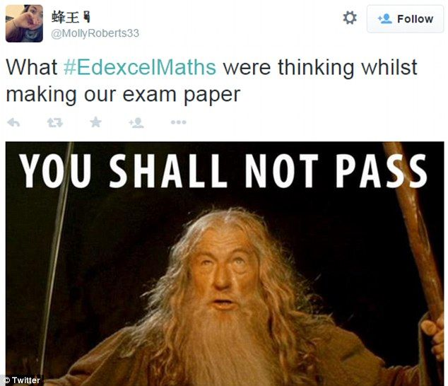 Students took to social media to vent their frustration after taking a challenging GCSE Maths paper yesterday