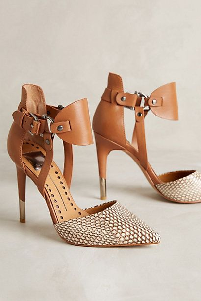 A good, skinny heel paired with a bold snakeskin pattern; the perfect way to dress up jeans or that LBD