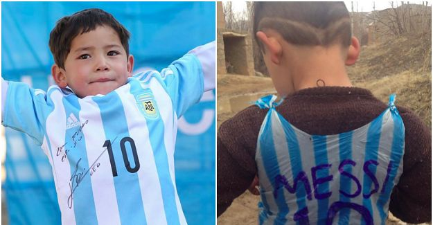 The Argentina superstar has sent his little fan a very special present.