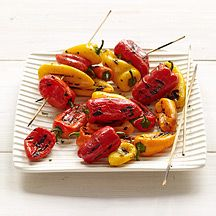 Grilled Baby Peppers in Oregano Vinaigrette-- 1 pts