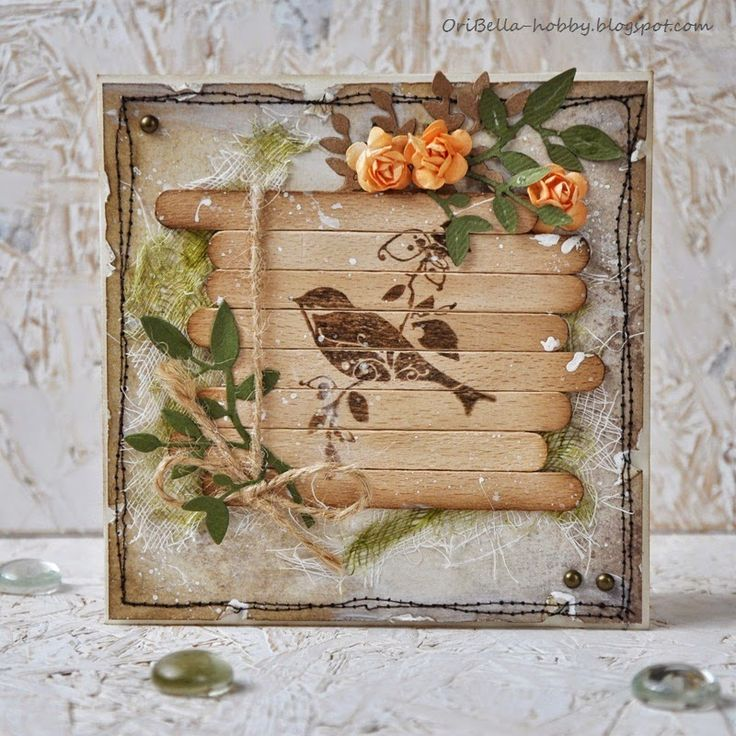 n2s : clever use of popsicle sticks...Let's get shabby: Challenge #58                                                                                                                                                                                 More