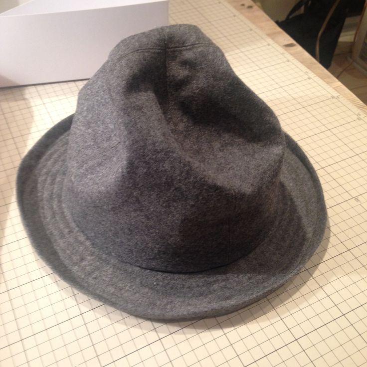 mountain hat ウール素材のマウンテンハット。クラウンは好きなかたちに凹っと。#hat #mountainhat
