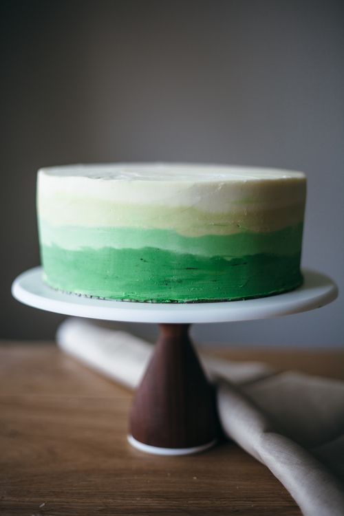 Chocolate Mint Cake with Mint Buttercream Frosting