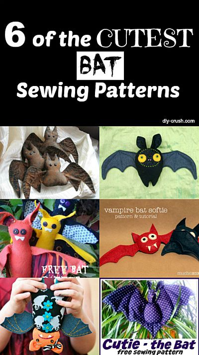 6 of the CUTEST bat sewing patterns. Check out where to get the free downloadable patterns for each |DIY Crush