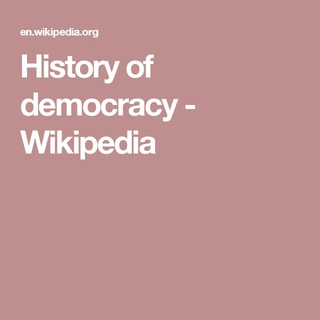 History of democracy - Wikipedia