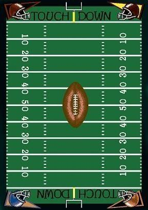 Joy Carpets Football Fun Rug by Joy Carpets. $102.99. This football field area rug is perfect for a sports room, recreation room or basement.