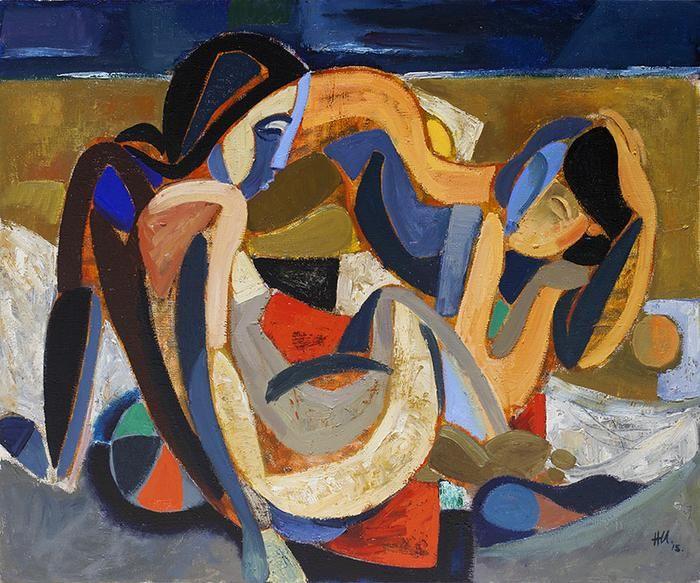 hennie niemann jnr , beach composition , 120cm x 100 cm , 2015
