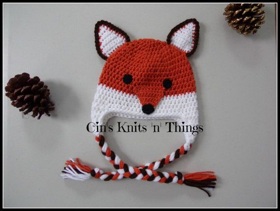 FOX HAT  What does a Fox say?? These are fun and functional Crochet Fox hats for any Toddler, Child, Teen or Adult. Besides just being adorable