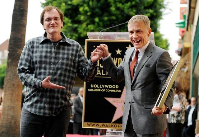 Кристоф Вальц получил звезду на Аллее славы Голливуда. На торжественную церемонию приехали Сэмюэл Л. Джексон и Квентин Тарантино.