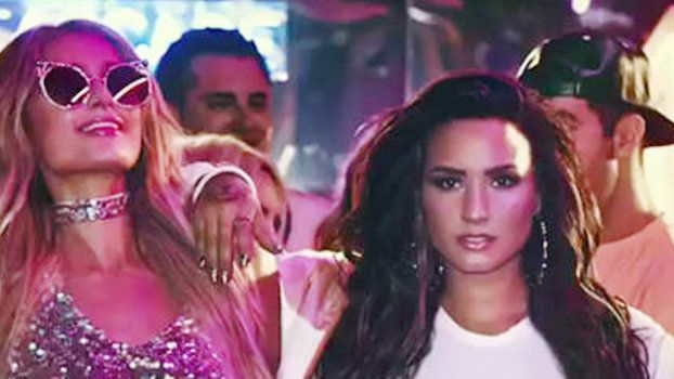 """Demi Lovato and Paris Hilton Party It Up in a Music Video Teaser for""""Sorry Not Sorry"""""""