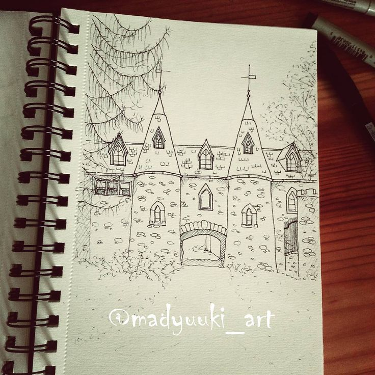 Ravenloft castle by @madyuuki_art  https://instagram.com/madyuuki_art/ http://yuki-chan-xdxd.deviantart.com/    #madyuuki_art #ravenloft #castle #in #upstate #new #york #architecture #drawing #drawings #building #buildings #landscape #art #artist #crayons #watercolor #micron #polishartist #good #pretty #artdrawingg #art_spotlight #sketch #sketchbook #arqsketch #bestoftheday #bestdrawing #instagood #poland