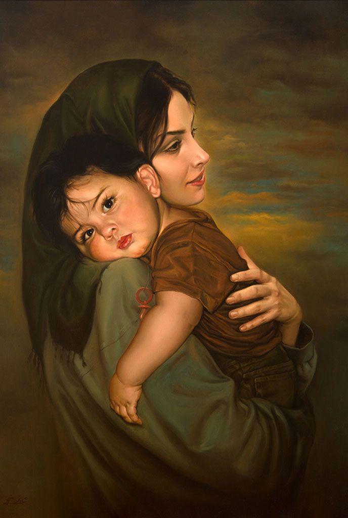 Mitra Shadfar - Maternal Love https://www.pinterest.com/edraque/arte-madre-e-hijo/