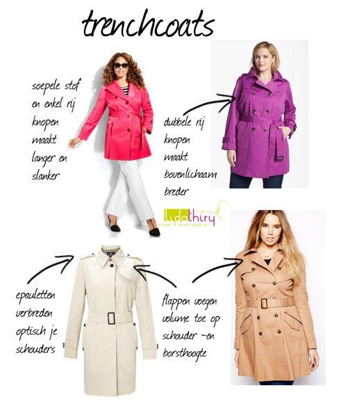 Kies de trenchcoat die bij je bodytype past   www.lidathiry.nl   klik op de foto voor tips #kledingtip