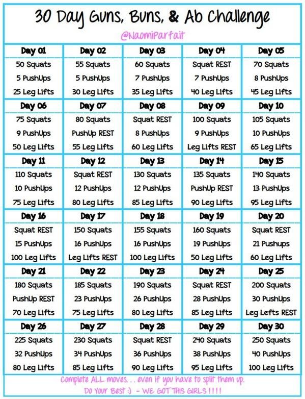 30 day guns, buns & ab challenge - something I can still do while pregnant